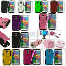 Rugged Heavy Duty Kickstand Case + Accessory Set For Samsung Galaxy S5 SV i9600