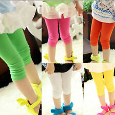 New Kids Girls Candy Color Stretch Tights Skinny Leggings Pants Free Shipping