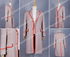 Who Is The 5th Doctor Dr.Trench Coat Cosplay Costume Halloween High Quality New