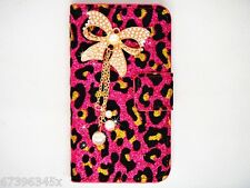 Sweet Bling Bow Diamond Leopard Velvet Cover Case FOR Mobile Smart Phones 2