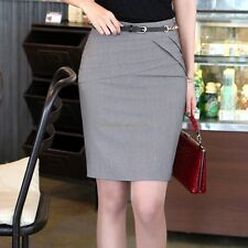 Career Women's Lady OL Slim Sexy Pencil Stretch Straight Short Mini Skirt