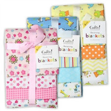 4 PC NWT BABY UNISEX, BOY OR GIRL RECIEVING BLANKETS