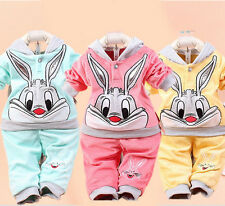 Kids Tracksuit Hooded Top Jogging Bottoms Girls Boys 2 PIECE SUIT 0.5-2 Y