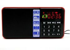 New Hi-Rice SD111 FM Radio Clock USB TF Mp3 Portable Digital Speaker For Parents