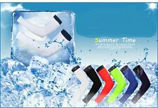 Cooling Arm Sleeves Sun Protective UV Cover 1 Pair Variety Color Cycling Arm