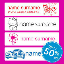 60 IRON-ON School Name Labels Tags tag iron-on SUPER NAME LABELS - UK