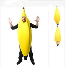 Halloween Carnival Costume One Piece Kids/Adult Banana Fruit Wear Nightclub HOT