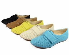 Womens Casual Oxford Flat Shoes Lady Comfortable Light Weight Shoes