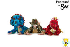 KIDS CHILDRENS BOYS GIRLS DELUXE DINOSAUR RED DRAGON COSTUME OUTFIT AGE 3-5-7-9