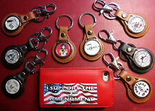 2nd AMENDMENT, RIGHT TO BEAR ARMS  LEATHER KEY RINGS, 60 STYLES