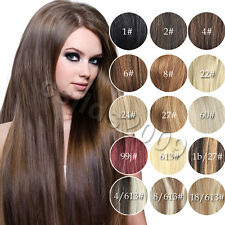 """16"""" 18"""" 20"""" 22"""" 24"""" 26"""" 28"""" 30"""" Full Head  Clip In Remy Human Hair Extensions"""