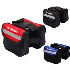 New Mountain Bicycle Bike Waterproof Double saddle Frame Pannier Front Tube Bag