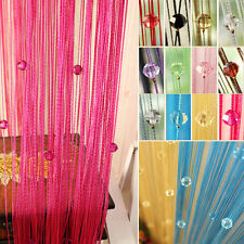 String Curtain Beads Wall Panel Spangle Fringe Room Door Window Divider Blind