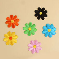 10pcs Embroidered Applique Flowers Patch Iron on  Sew DIY Craft Clothes Decor
