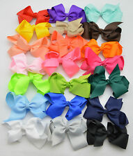 BOW HAIR CLIP GROSGRAIN LARGE RIBBON ALLIGATOR FLOWER BABY/ GIRLS HOT NEW HOT