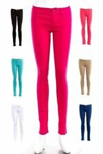 NEW Women's JUNIOR Coral Color Stretch Skinny Jeans - American Fit-Various Sizes