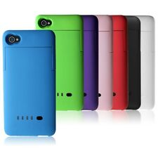 For Iphone 4 4G 4S External 1900mAh Backup Battery Case Rechargeable Power Bank