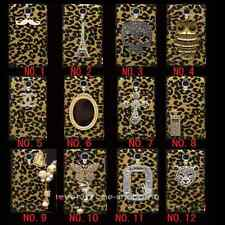 3D bling Rhinestone Cross Leopard Cover Case For  Various Samsung cell phone