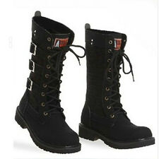 Unisex Cool boots lace up military Classic Canvas Vintage ankle boots EUR37-45