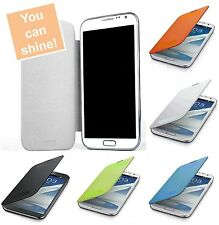Flip Cover PU Leather Battery Case For Samsung Galaxy Note 2 3 III N7100 N9000