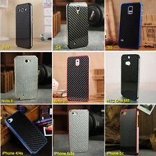 Luxury Aluminum Case Frame+Carbon Fiber Back Plate for iPhone Samsung Galaxy