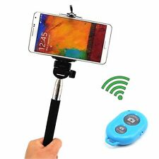Wireless Bluetooth Shutter Sel Timer+Extendable Monopod Tripod For Phone iPhone
