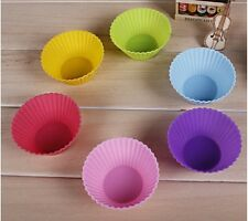 DIY Silicone Cake Muffin Chocolate Cupcake Case Liner Baking Cup Mould 7CM