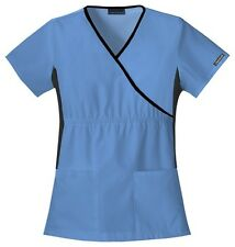 Cherokee Scrubs Flexibles V Neck Scrub Top 2500 Ciel Blue