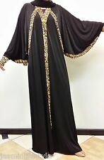 Beautiful New Moroccan Dubai Plain Print Kaftan Abaya Jilbab Hijab Muslim Dress
