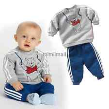 New baby boy long sleeve sweater and Pants Suit Outfit bear set Clothing