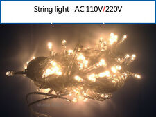 Warm White 10M 100 LED Bulb Christmas  Fairy Party Deco String Lights Waterproof