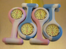 Nurses midwife Fob Watches Pink & Blue Unique Glow in the Dark Battery Required