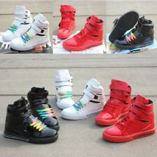 Plus Sizes High Top Lace Up Casual Justin Bieber Supra Couples Sneakers Shoes