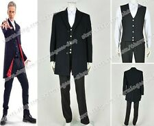 Doctor Who The Twelfth 12th Dr. Dark Peter Capaldi Costume Men's Party Coat New