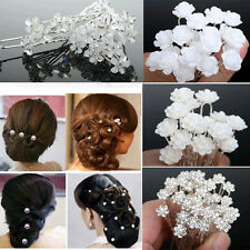 20pc/40pc New Arrival Wedding Bridal Pearl Flower Crystal Hair Pins Clips Brid