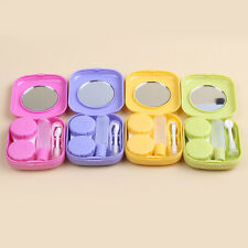 New Cute Pocket Mini Contact Lens Case Travel Kit Easy Carry Mirror Container