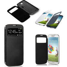 Front View PU Leather Battery Case Cover For Samsung Galaxy S4 SIV i9500 *ktc