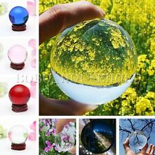 Asian Rare Natural Quartz Magic Crystal Healing Ball Sphere Stand 20mm 40mm 60mm