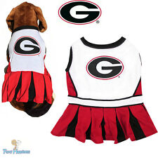 NCAA Pet Fan Gear GEORGIA BULLDOGS Cheerleader Outfit Dress for Dog Dogs Puppy