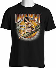 Dinah Might Retro T Shirts WW II Bomber Nose Art Classic Pinup Girl S - 6XL Tall