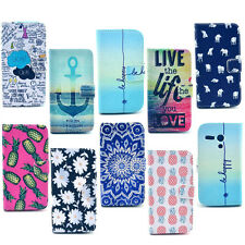 Anchor Live the Life You Love Flip Leather Smart Slim Card Case Cover For MOTO G