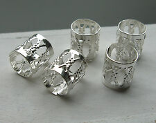 5, 10, 15 or 20 Silver plated dread hair cuff beads, 7mm hole approx, adjustable