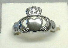 Irish Celtic Heart Claddagh Love Ring Stainless Steel Wedding Band/Promise Rings