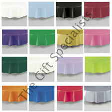 "ROUND TABLECLOTH TABLEWARE - PARTY TABLE COVER 84"" DIAMETER -MANY SOLID COLOURS!"