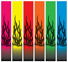 "** 1 DOZEN 6x1"" FLUORO FLAMES v2 ON FLUORO ARROW WRAPS - SELECT YOUR COLOUR  **"