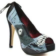 Iron Fist Glow in the Dark Zombie High Heels  Pumps Platform Womens