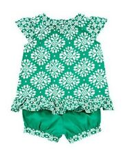 NWT Gymboree Girl The Green Scene 2-Piece Clover Print Set Outfit NEW