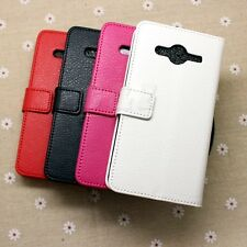 (4Colors) Flip Wallet Leather Case Cover For Samsung Galaxy Core II 2 SM-G355H a