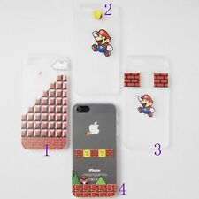 Mario and Mushroom Translucent Hard Back Case Skin for iPhone 4S 5 5S
