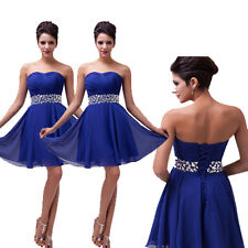 CHEAP~ Elegant Short Bridesmaid Wedding Cocktail Formal Evening Prom Party Dress